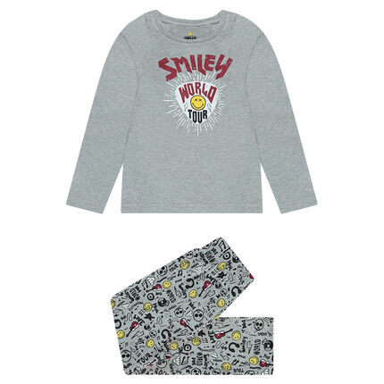 Pyjama en jersey avec prints ©Smiley