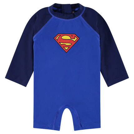 Combinaison courte anti-uv ©Marvel print logo Superman
