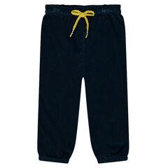 Pantalon en panne de vleours