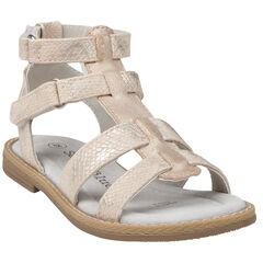 Nu-pieds dorés effet croco style spartiates du 24 au 27
