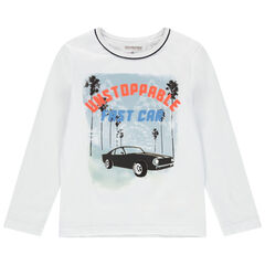 T-shirt manches longues en jersey print voiture