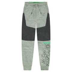 Pantalon de jogging en molleton avec motif géométrique