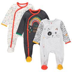 Lot de 3 dors-bien en jersey avec prints fantaisie colorés