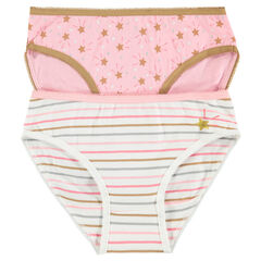 Junior - Lot de 2 culottes à étoiles