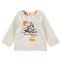 Tee-shirt manches longues en jersey réversible