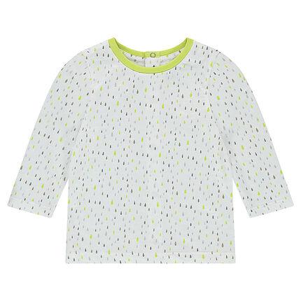 Tee-shirt manches longues en jersey avec imprimé graphique all-over