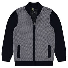 Junior - Gilet en tricot zippé
