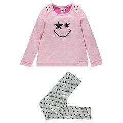 Junior - Pyjama long imprimé étoiles et print ©Smiley