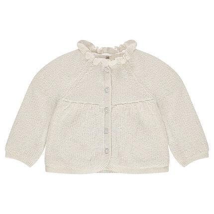 Gilet en tricot mélangé de fil brillant avec col fantaisie