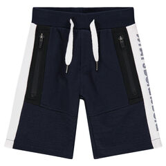 Junior - Bermuda en molleton avec poches zippées