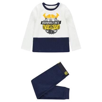 Pyjama en jersey bicolore print ©Transformers