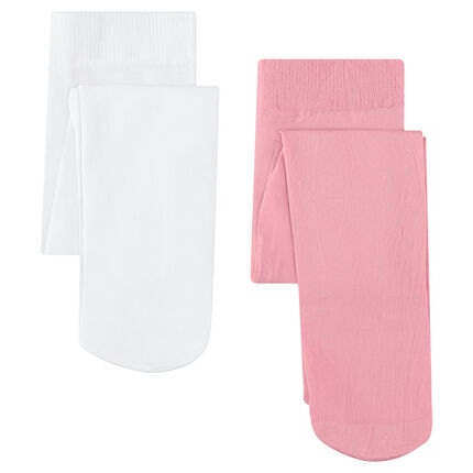 Lot de 2 collants unis microfibre 40 deniers