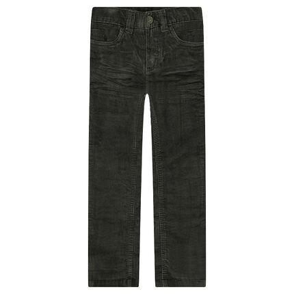 Pantalon en velours effet crinkle