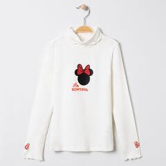 Sous-pull col roulé à broderies Minnie Disney