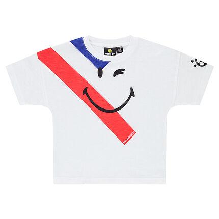 Tee-shirt manches courtes avec print ©Smiley COUPE DU MONDE DE FOOTBALL 2018