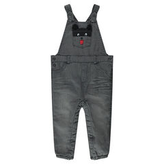 Salopette en jeans effet used doublée micropolaire