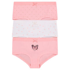 Junior - Lot de 3 shorties en coton assortis
