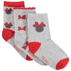 Lot de 3 paires de chaussettes assorties Minnie Disney en jacquard