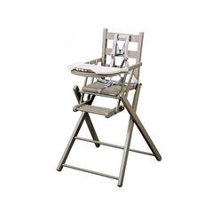 Chaise haute Sarah extra-pliante  - Gris clair