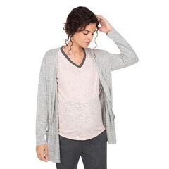 Gilet manches longues homewear de grossesse