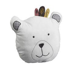 Coussin décoratif tête d'ours - Timouki