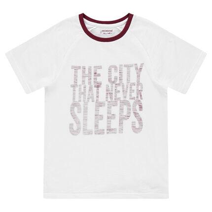 Junior - Tee-shirt manches courtes avec inscriptions printées