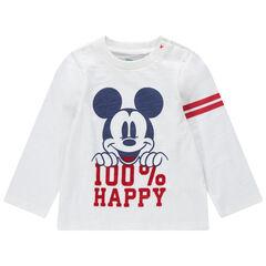 T-shirt manches longues en jersey print Mickey Disney
