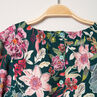Robe manches longues à fleurs all-over