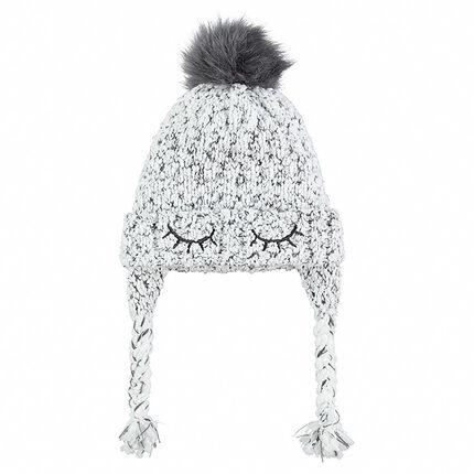 2c528de21215 Bonnet péruvien en tricot avec détails brodés et pompon - Orchestra FR