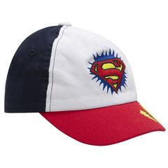 Casquette en twill tricolore avec logo Warner Superman brodé !