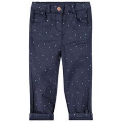 Pantalon en coton avec étoiles imprimées all-over