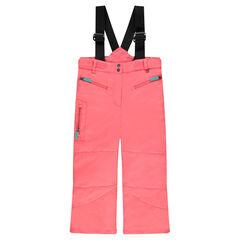 Pantalon de ski uni à bretelles élastiquées amovibles