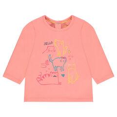 e2ba18be3dda0 Tee-shirt manches longues avec print fantaisie
