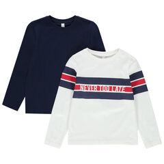 Lot de 2 t-shirts manches longues en coton bio
