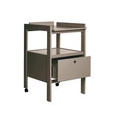 Table à langer Cindy 2 avec tiroir - Taupe