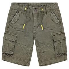 Bermuda en coton surteint avec poches
