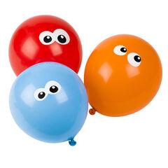 Lot de 10 ballons d'anniversaire gonflables motif yeux , Prémaman
