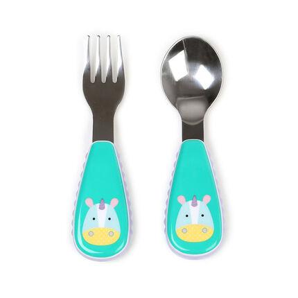 Couverts fourchette + cuillère Zoo - Licorne
