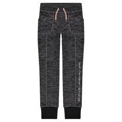 Junior - Pantalon de jogging en tricot fin avec texte printé