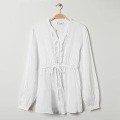 Chemise manches de longues de grossesse à fleurs imprimées , Prémaman