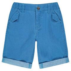 Junior - Bermuda en coton armuré avec poches