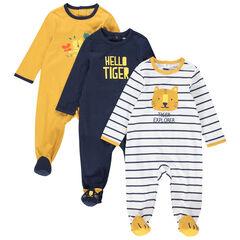 Lot de 3 dors-bien en jersey avec tigres printés