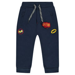 Pantalon de jogging en molleton uni avec badges BATMAN