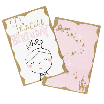 Lot de 10 cartes d'invitations anniversaire motif fée