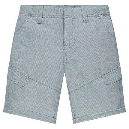 Junior - Bermuda en popeline fantaisie avec poches
