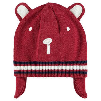 223c15c89a9e Bonnet en tricot avec cache oreilles doublé jersey - Orchestra FR