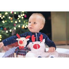 Ensemble dors-bien en velours esprit Noël avec bonnet imprimé df15aa1de3e