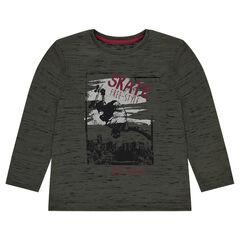 Junior - Tee-shirt en jersey avec print skate