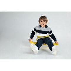 Pull en tricot épais à bandes contrastées