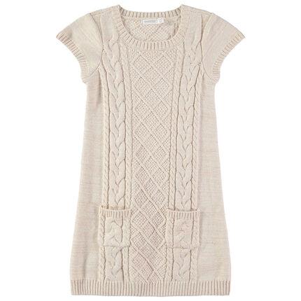 Junior - Robe sans manches en tricot à poches